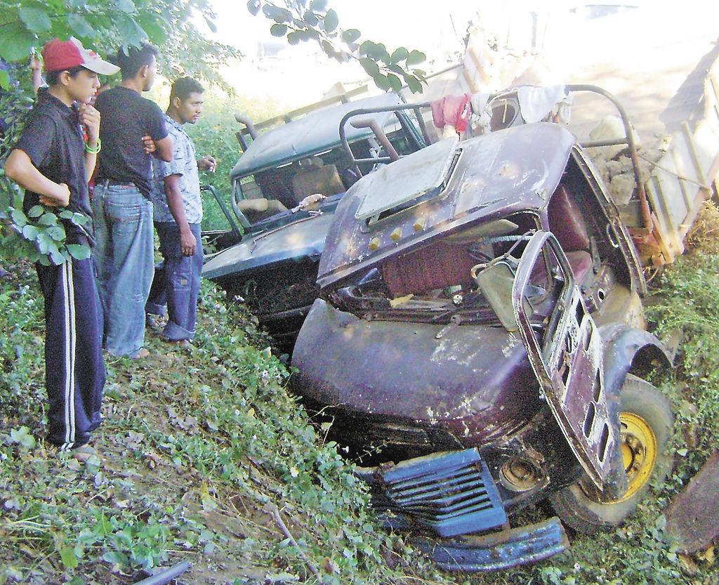 Los accidentes de tránsito preocupan a la Policía de Chinandega en las últimas horas del 2009. La Prensa/ S. Martínez