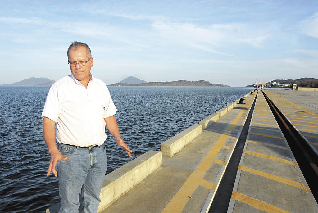 Mario Orantes, fue constructor del  Puerto de la Unión Centroamericana ubicado en El Salvador. LA PRENSA/G. FLORES