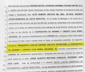 Credito: En este documento se puede apreciar que Caruna actúa como secretario de Tichana Powers S.A. LA PRENSA/ REPRODUCCIÓN