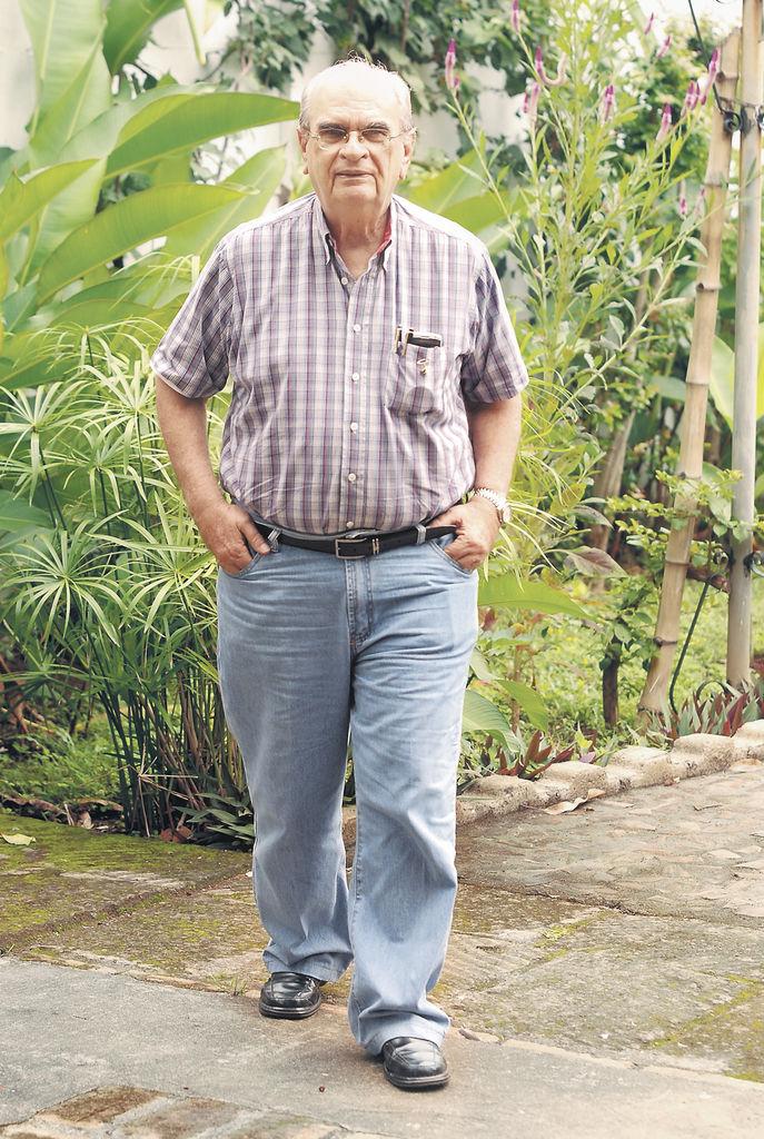 Fabio Gadea Mantilla,  aspirante presidencial y empresario radiofónico LA PRENSA/HECTOR ESQUIVEL