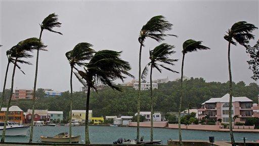 Igor golpeó las islas de Bermuda convertido en huracán de categoría uno. LA PRENSA/AP
