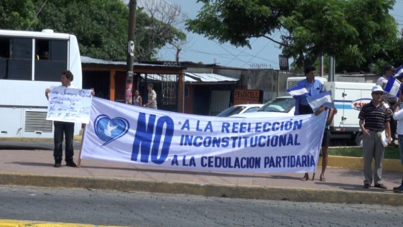 Protesta por reelección de Ortega
