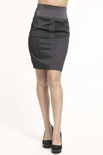 Comprar Falda roja lpiz de talle alto de moda online