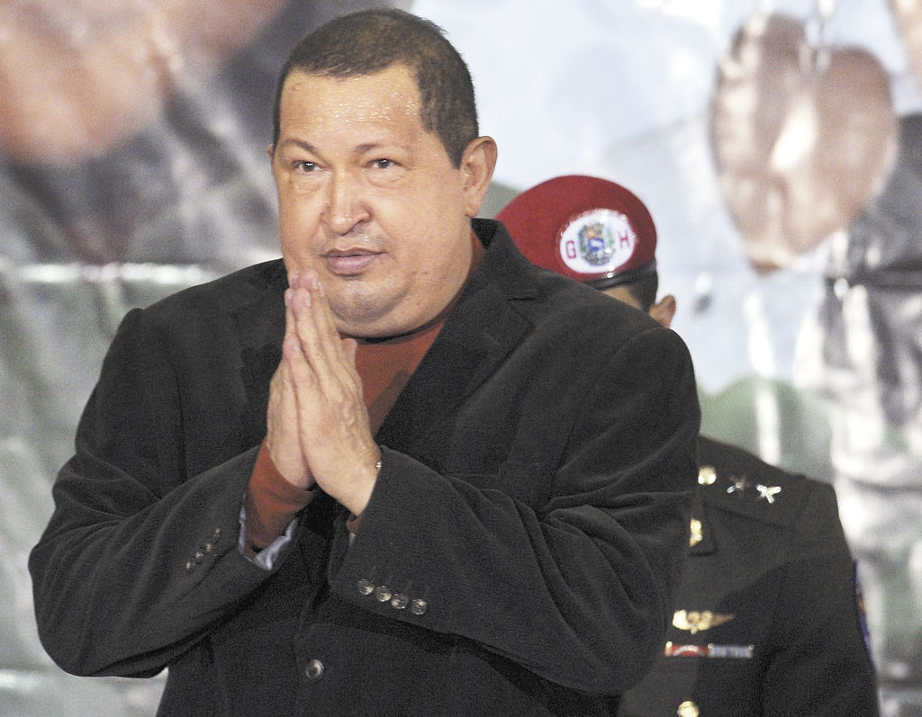 Hugo Chávez, presidente de Venezuela. LA PRENSA/AFP/JUAN BARRETO