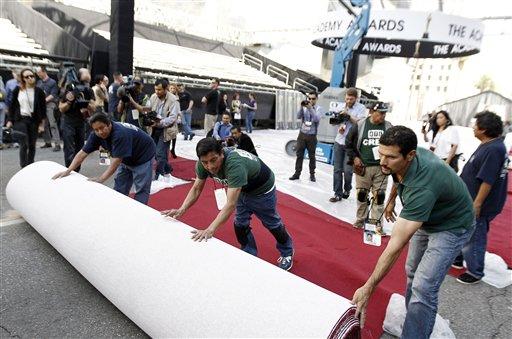 Despliegan la alfombra roja de los Oscar