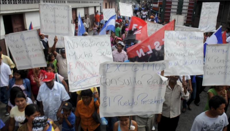 """Ometepe también marchó contra """"el dedazo"""""""
