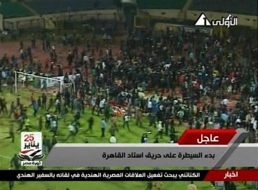 73 muertos en un partido de fútbol en Egipto