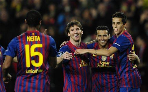 Messi anota por primera vez cinco goles en su carrera