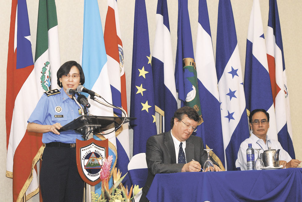 La jefa policial Aminta Granera, de visita en Costa Rica para debatir sobre seguridad fronteriza. La Prensa/Archivo.