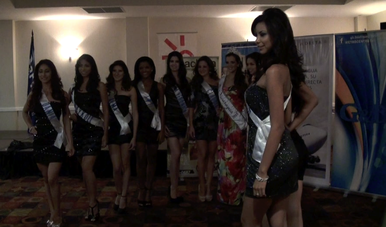 Candidatas despiden a Miss Nicaragua 2011