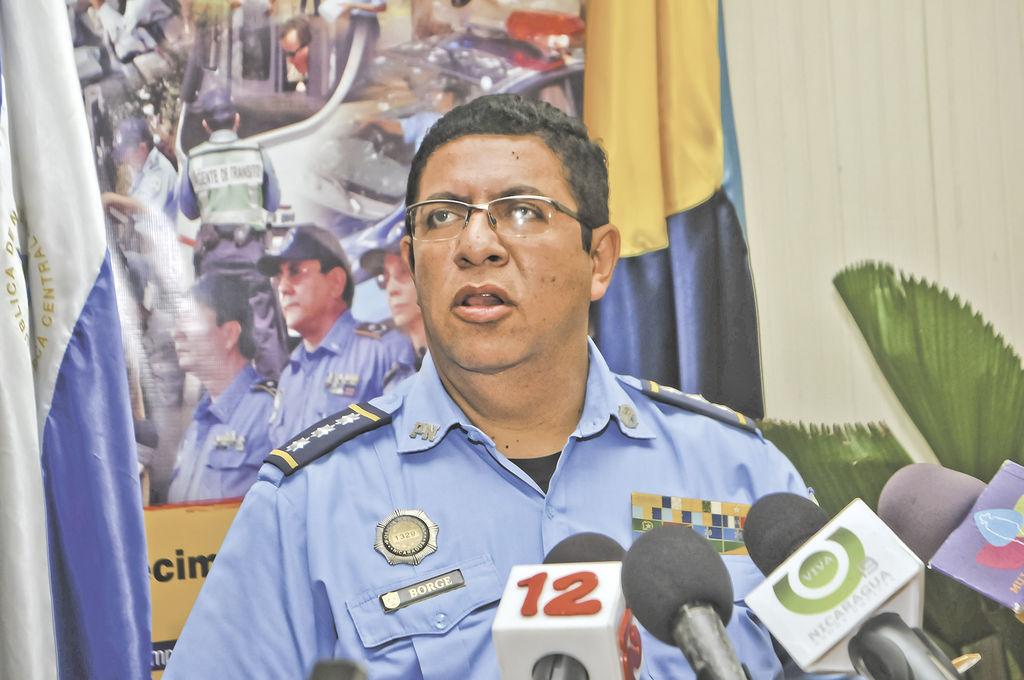 Fernando Borge,  vocero de la Policía Nacional. LA PRENSA/ARCHIVO