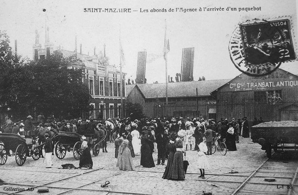 Puerto de Saint-Nazaire, en Francia,  donde una vez embarcó Rubén Darío hacia América, una de sus crónicas recrea cómo era viajar en aquellos navíos. LA PRENSA/Reproducciones M.L.González.