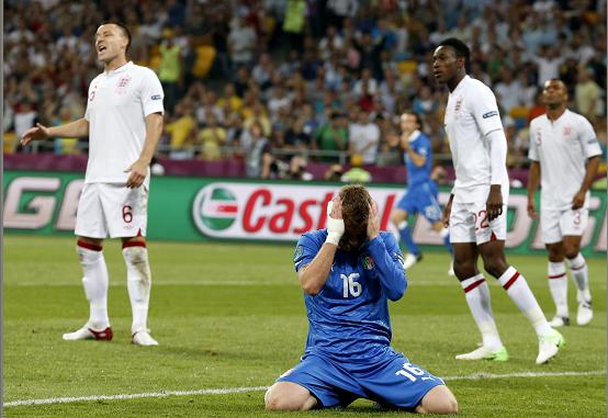 Inglaterra e Italia empatan 0-0 y van al alargue en la Eurocopa