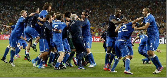 Italia gana a Inglaterra en penales