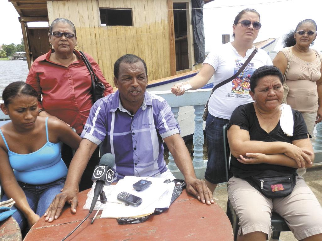 El presidente del Gobierno comunal de Tasbapounie,  Jimmy Martínez, salió en defensa de Ted Hayman. LA PRENSA/S: LEÓN