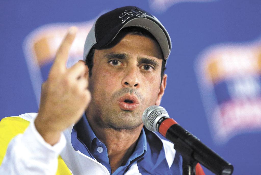 "Capriles: ""El poder es efímero"""