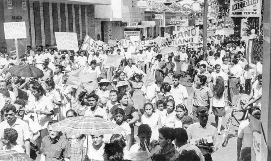 El 22 de enero de 1967, ciudadanos protestaron contra el gobierno del presidente Lorenzo Guerrero Gutiérrez y el general Anastasio Somoza Debayle, quien se postulaba como candidato } del Partido Liberal Nacionalista. LA PRENSA/ ARCHIVO