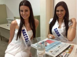 Las candidatas de Carazo a Miss Nicaragua 2013, Nastassaja y Sara. LA PRENSA