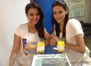 Ariadna y Daysi, candidatas a Miss Nicaragua 2013. LA PRENSA