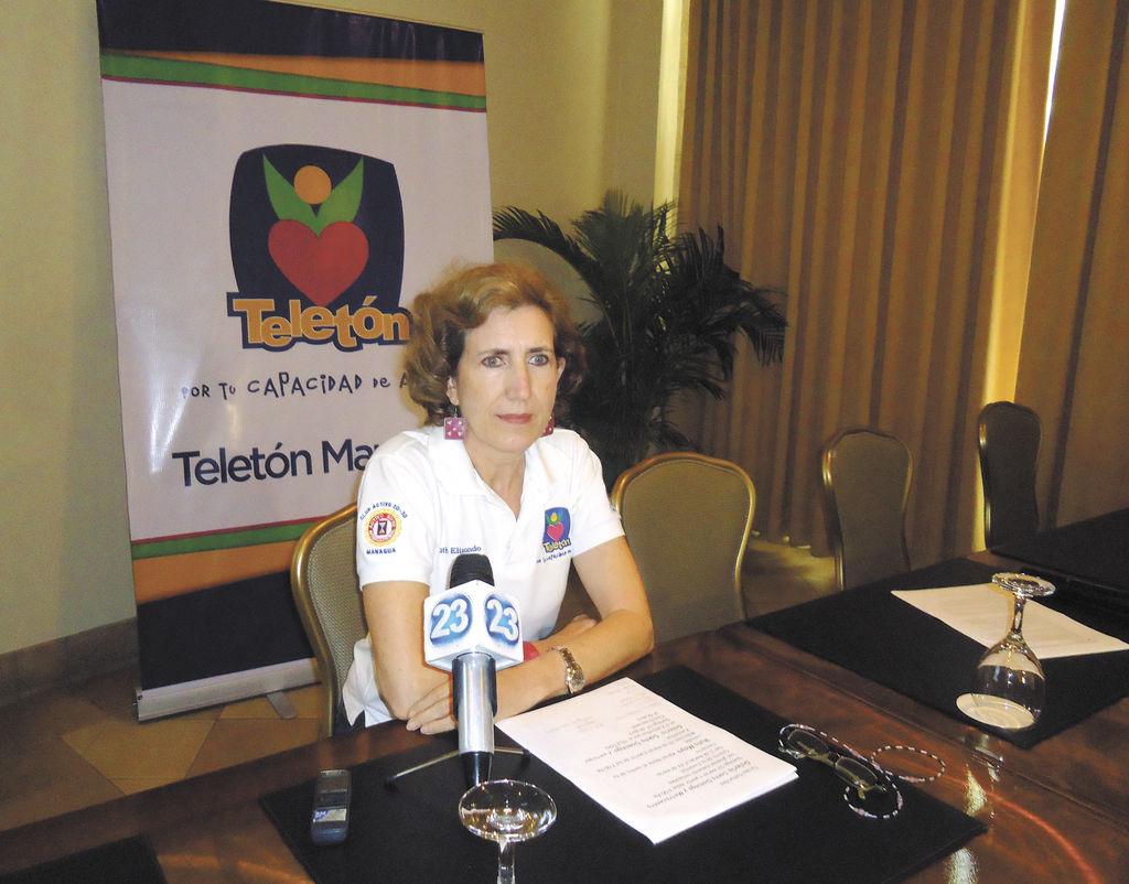 Ruth Elizondo,  presidenta de Teletón Managua. LA PRENSA/ G. RUIZ