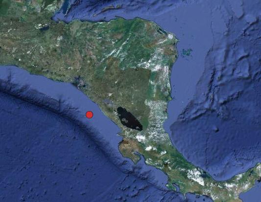 Registran sismo frente a las costas de Puerto Sandino