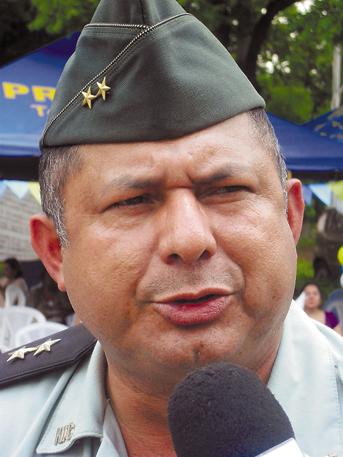 Teniente coronel Eduardo Beckford. LA PRENSA/T. ROTHSCHUH