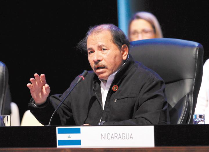 El presidente inconstitucional Daniel Ortega  participa en la sesión plenaria de la II Cumbre de la Comunidad de Estados Latinoamericanos y Caribeños (Celac), el 29 de enero en La Habana, Cuba. LA PRENSA/ EFE/ ARCHIVO
