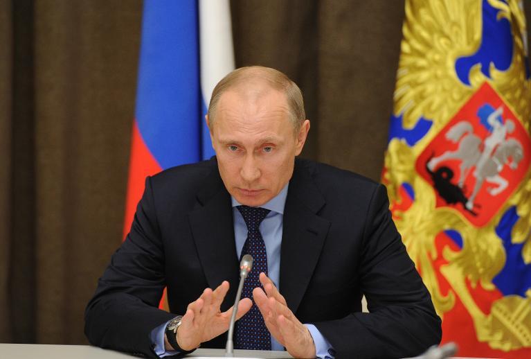 El presidente ruso, Vladimir Putin, durante una reunión financiera en Sochi (Rusia), el 12 de marzo de 2014