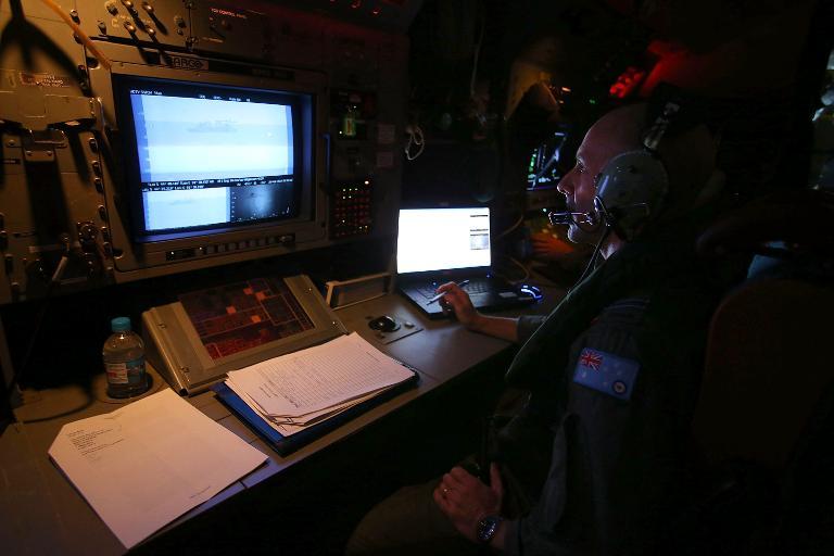 Un sensor empleado el 26 de marzo de 2014 en Perth (Australia), en la misión de búsqueda en el sur del océano Índico del avión desaparecido MH370