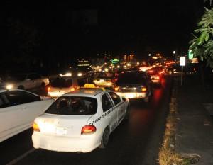 El tráfico se vio afectado en la capital porque los semáforos dejaron de funcionar. LA PRENSA/M. ESQUIVEL