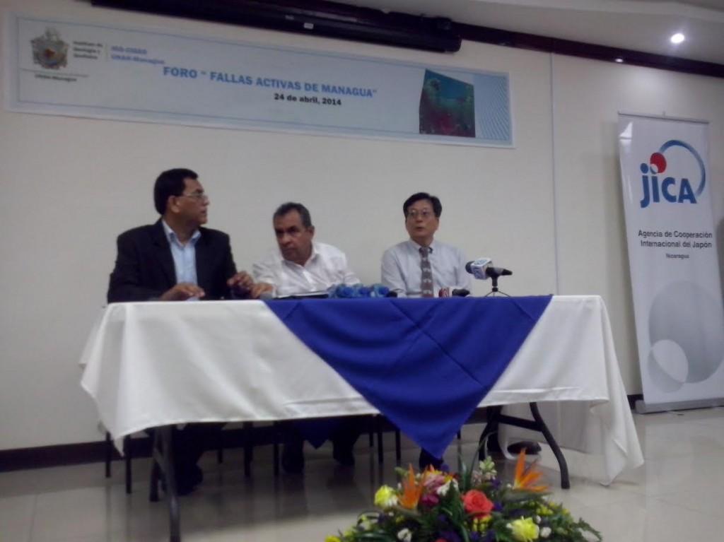 El foro se realizó en el Instituto de Geología y Geofísica dela UNAN-Managua. LA PRENSA/R. ÁLVAREZ