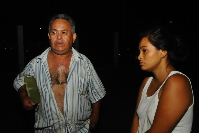 Guillermo Antonio Ortiz Ramírez junto a su hija, señalaron al joven de 22 años de ser uno de los asaltantes. LAPRENSA/E.RODRÍGUEZ