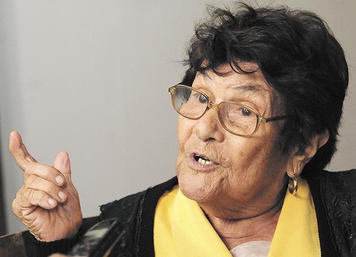Lastenia Zambrana conoció a Sandino y ella aún vive en Niquinohomo. LA PRENSA/ U. MOLINA