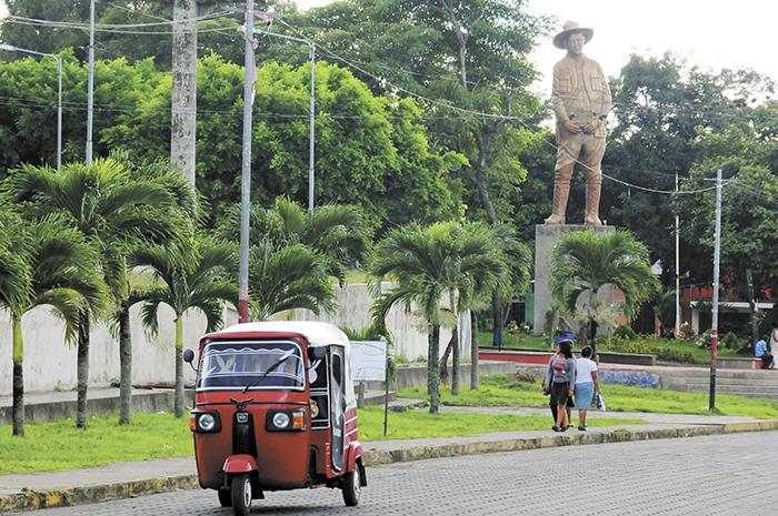 La figura de Augusto C. Sandino está presente en todo el municipio de Niquinohomo a través de diversas estatuas, nombres de establecimientos y de un museo. LA PRENSA/ U. MOLINA