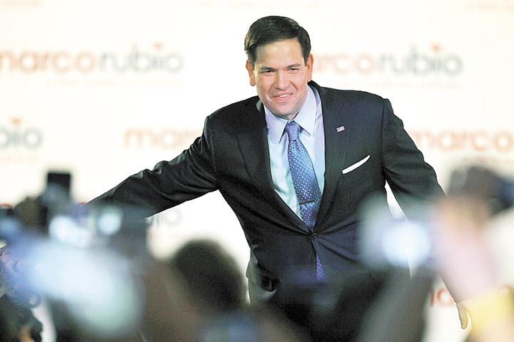 Marco Rubio, el senador republicano,  al presentar el lunes su candidatura para las elecciones presidenciales de 2016.  LA PRENSA/AFP/ELIOT J. SCHECHTER