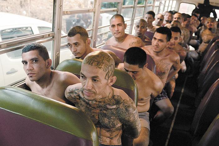 Como parte de las primeras medidas de la guerra de El Salvador  contra las maras está el traslado de cuatrocientos líderes mareros a cárceles de alta seguridad. LA PRENSA/AGENCIAS