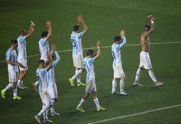 Argentina enfrentará a Chile en la final del próximo sábado 4 de julio, a las 5:00 pm hora de Nicaragua. LA PRENSA/EFE/Osvaldo Villarroel