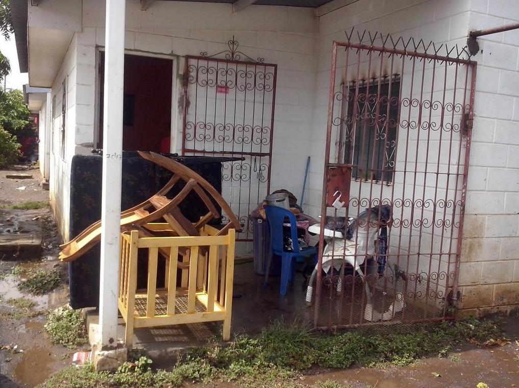 Afectaciones por lluvia en Casas para el Pueblo
