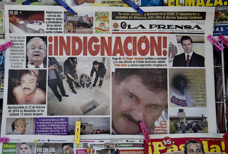 Así titularon los diarios en México. LA PRENSA/AFP