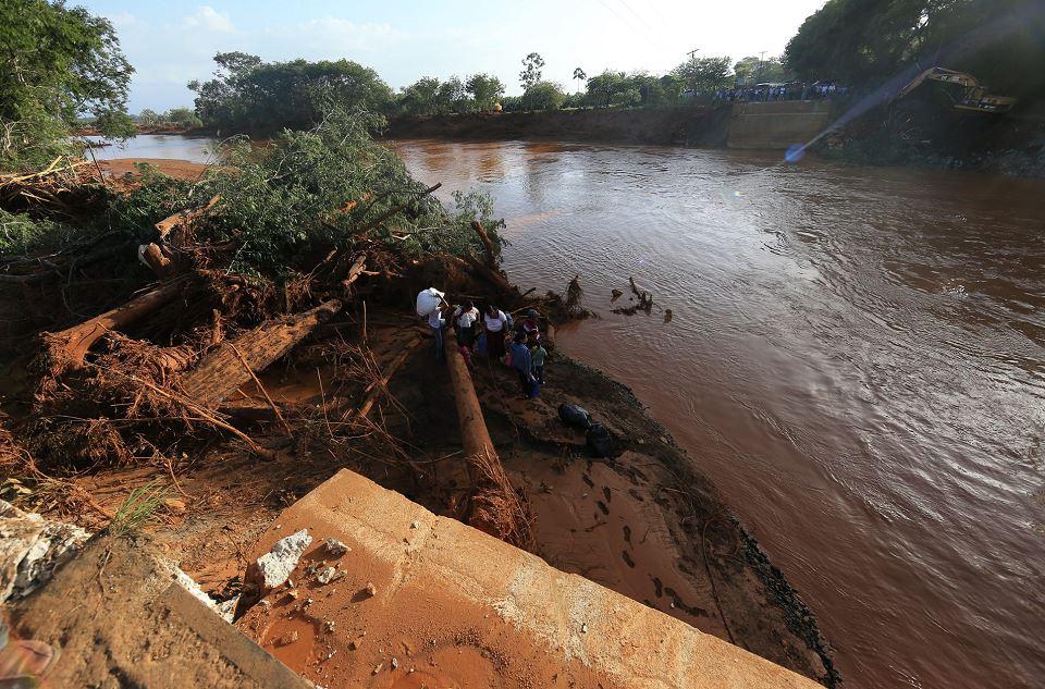 El desbordamiento del río Sumach en El Estor, Izabal Guatema. LAPRENSA/EFE