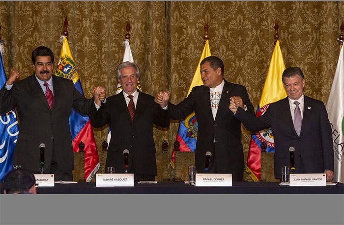 Maduro  y  Santos  llegan a un acuerdo
