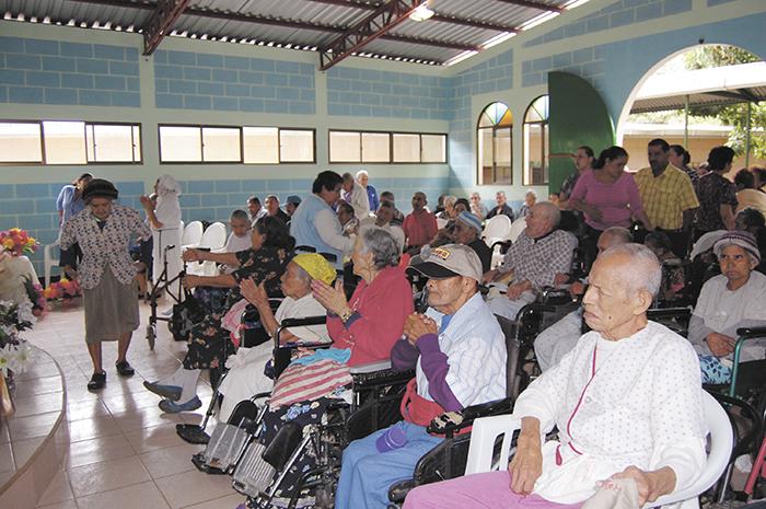 Festejo para  ancianos