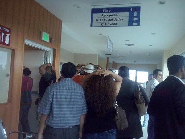 Realizan simulacro ante terremotos en el Hospital Militar