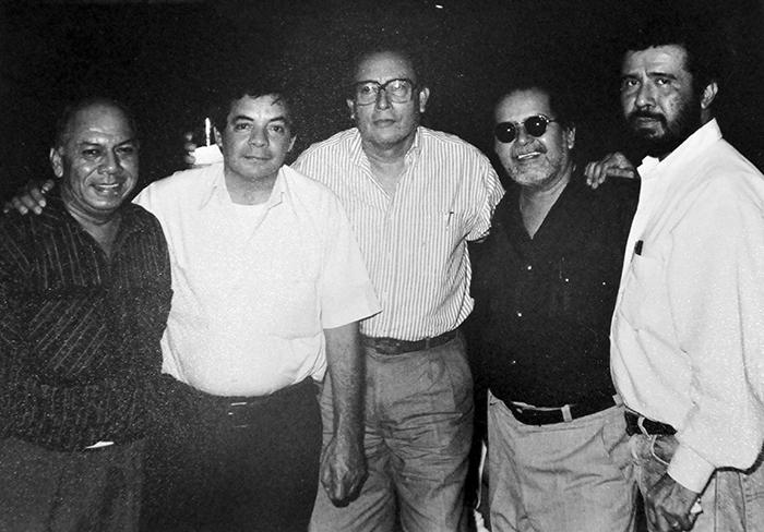 El histórico grupo Praxis,  Arnoldo Guillén, Orlando Sobalvarro, Alejandro Aróstegui, Genaro Lugo, y Róger Pérez de la Rocha. LAPRENSA/ARCHIVO