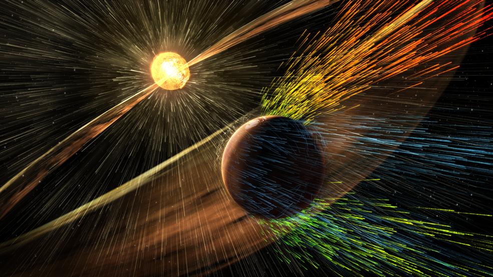 Marte perdió su atmósfera por fuertes vientos solares