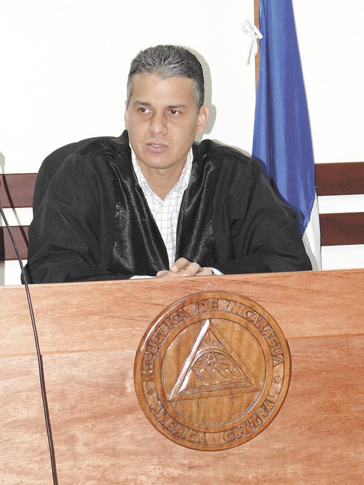 Juez Henry Morales, titular del Juzgado Sexto Distrito Penal de Audiencia de Managua. LA PRENSA / ARCHIVO