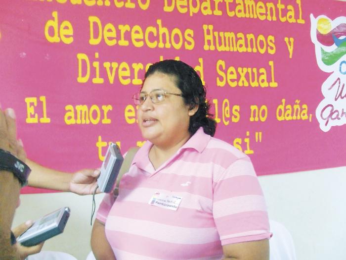 Samira Montiel del movimiento de diversidad de genero . M Calero / LA PRENSA.