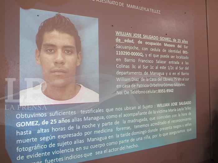 William José Salgado Gómez, de 25 años de edad, originario de Managua es sospechoso de los crímenes. LA PRENSA/E. LóPEZ