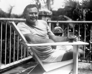 Ernest Hemingway en la finca Vigia, Cuba 1964