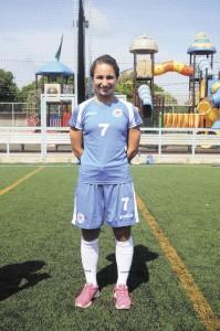 Ana Cate, seleccionada del equipo olimpico de futbol. Foto Jader Flores/LAPRENSA